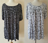 LADIES WOMENS TOP BLACK WHITE NEW SMOCK TUNIC PLUS SIZE 18-32 made in UK