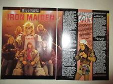 Iron Maiden Bruce Dickinson Paula Abdul Bros Goss clippings Sweden Swedish