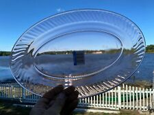 """New 14"""" Oval Platter in Rosaline Pink by Cristal D'Arques France"""