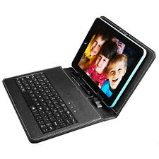 "USB Keyboard Leather Case Cover Stand For 8"" 9"" 10.1"" 7.9"" 9. 7"" Inch Tablet PC"
