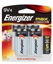 4 Energizer Max 9 Volt 9v alkaline Batteries (4 Pack)