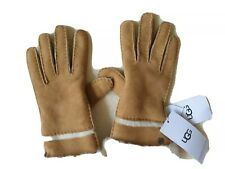 Ugg Australia Women's SEAMED TECH GLOVES SHEEPSK SUEDE CHESTNUT L- BNWT