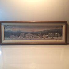 "New ListingNorman Rockwell Stockbridge Main Street Christmas Framed Canvas Print 32""x11"""
