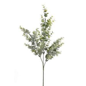 künstlicher Eucalyptus Zweig Kunstblätter 3 Zweige H. 68cm grün Emerald