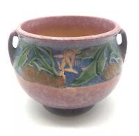 Antique Roseville Pottery Baneda Handled Pink Jardinaire Planter Vase 626-4 VTG
