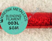 Kreinik Blending Filament 003L Robot Red Holographic Metallic Thread 50M