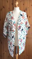NEW Element Regent Kimono Antique Floral Birds Festival Cover Up Boho S 8 10 $80