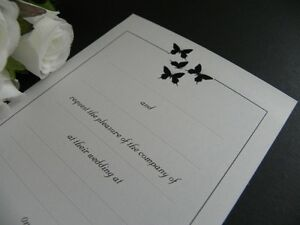 Le Butterflies DIY Invitations Wedding - Engagement - Event - Party - 25 Pack