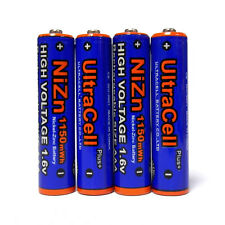 2 AAA Ultracell 1150mWh NiZn 1.6V Volt Rechargeable Battery Camera Flashlight