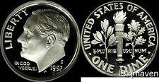 1992 S 90% Silver Roosevelt Dime Deep Cameo Gem Proof No Reserve