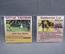 Sepak Takraw DVD Lot of 2 Kick Volleyball dvd's Centennial Cup & Just for Kicks