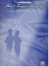 "MARIAH CAREY ""DON'T FORGET ABOUT US"" SHEET MUSIC-PIANO/VOCAL/CHORDS-NEW ON SALE!"