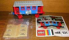 LEGO 131 Eisenbahn 4,5V Wagen 1.Klasse mit allen Aufklebern und Bauplan