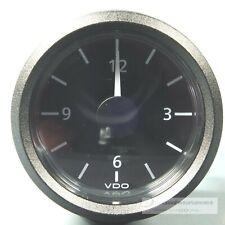 VDO QUARZ UHR  - UHR  VIEWLINE   CLOCK  AUTO + MARINE  12V  dreikant schwarz
