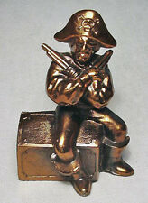 Vintage Pirate with Pistols White Metal Coin Bank in Nice Condition