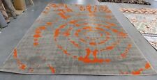 """Grey / Orange 8' 2"""" x 11' Stained rug for reduced price 1172555241 PRL7735F-8"""