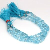 "Natural Blue Topaz Faceted Box Beads 6 mm- 6.5 mm  7"" Strand 100 Carats eBay"