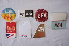 More details for bea vintage airline aviation plane luggage labels ref 2