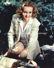ACTRESS CAROLE LOMBARD LEGGY, HER SKIRT HIKED UP ABOVE HER THIGHS PHOTO A-CL2