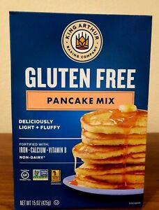 King Arthur  Gluten Free Pancake Mix, 15 Ounce Pack of 6