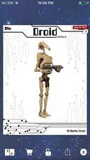 Topps Star Wars Digital Card Trader Black B1 Battle Droid Droids Insert