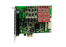 OpenVox A810E11 8 Port Analog PCI-E card base board + 1 FXS400 + 1 FXO400