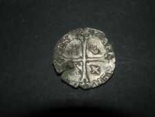 Medieval Silver Coin 1500's Crusader Cross Ancient Crown Pirate Colonial Shield!