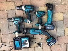 Makita 18v lithium-ion kit, Recip saw, multi tool, combi drill, impact