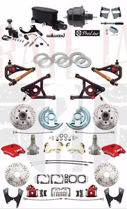 "1964-72 A Body  Disc Brake Conversion 2"" Drop RED Wilwood Package & A- Arms"