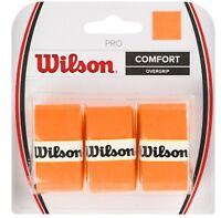 Wilson - WRZ4014OR - Tennis Racquet Over Grip Pack of 3 - Orange