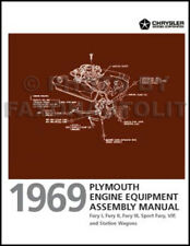 1969 Plymouth Fury Engine Equipment Assembly Manual VIP Sport I II III