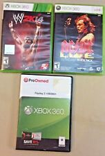 Lot of 3 XBox 360 Video Games: Payday 2, W2K14, AC/DC Live Rockband Track Pack