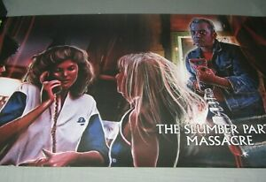 THE SLUMBERPARTY MASSACRE EXCLUSIVE POSTER Scream Factory 80's Horror Movie blu