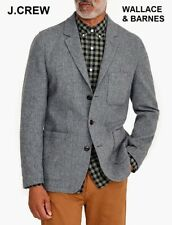 J.CREW Wallace & Barnes knit blazer tweed unstructured wool gray jacket 42R 42 R