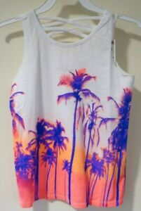 NWT Epic Threads Palm Trees At Sunset Top Girl's Size Medium / 10-12