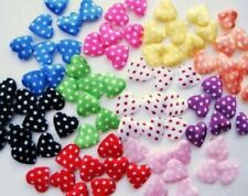 200 mix Mini Felt/Satin Heart Applique/Polka Dot/valentine/craft/fabric/bow H69