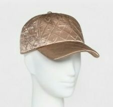69b73526 Champagne Gold Quilted Women's Baseball Cap Hat, Mossimo, Adjustable