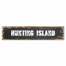 SP0258 HUNTING ISLAND Street Chic Sign Bar Store Shop Cafe Home Wall Decor