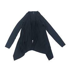 PRANA Breath Womens Size S Black Cardigan Top Ruffle Back Asymmetrical Yoga