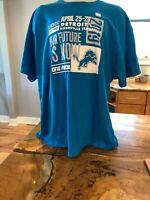 2019 Detroit Lions Blue One Pride Draft Tee Shirt 100% Cotton Size 3XL