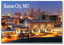 Skyline of Kansas City, Missouri, MO, 2 x 3 Souvenir Travel Fridge Magnet MKC300