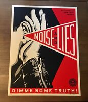Shepard Fairey Obey NOISE AND LIES Signed Numbered Screen Print