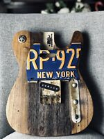 Pistols Crown Guitars Barncaster Telecaster Relic BODY ONLY Brown Tree Termites