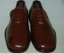 Men's Olivier Brown Moccasin Casual Shoes Leather Sz 8 Handmade in Italy