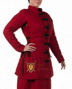 Medieval Women Gambeson Thick Padded Female armor LARP SCA HEMA theater costume