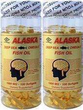 2 x Purified Alaska Deep Sea Fish Oil, Omega 3, 100 s/bottle EPA 360mg DHA 240mg