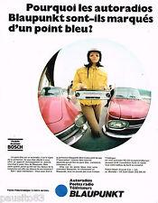 PUBLICITE ADVERTISING 065  1969  BLAUPUNKT   auto radio poste radio