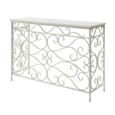 Convenience Concepts Wyoming Metal and Wood Console, White - 227499W