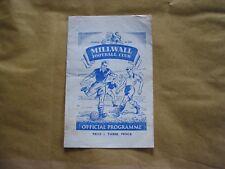 Millwall v Walsall Vintage 1949 Football Programme