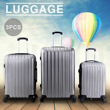 "20"" 24"" 28 3PCS Luggage Travel Set Spinner Bag ABS Trolley Suitcase w/TSA Lock"